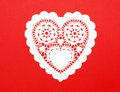Handmade Cutout Fancy Paper Heart Royalty Free Stock Images