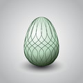 Handmade decorated light green easter egg illustration Stock Photography