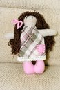 Handmade doll beautiful soft toy for children Stock Image