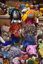 Handmade dolls in the shop