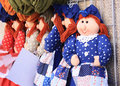 Handmade dolls sold at the street market in mrella spain Stock Photography