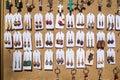 Handmade earings for sale. Handmade, macro. Royalty Free Stock Photo