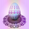 Handmade easter egg ornamental tray illustration Stock Images