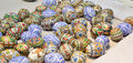 Handmade easter eggs from bucovina romania Royalty Free Stock Photography