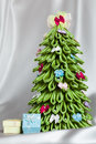 Handmade Fabric Christmas Tree Royalty Free Stock Photos