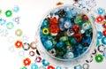 Handmade Glass Beads In Bowl