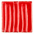 Handmade glazed red ceramic tile Royalty Free Stock Photo