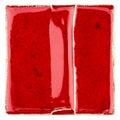 Handmade glazed red ceramic tile Royalty Free Stock Photo