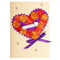 Handmade greeting card Stock Photo