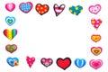 Handmade hearts frame Royalty Free Stock Photo