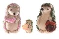 Handmade hedgehog family horizontal Stock Images
