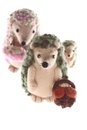 Handmade hedgehog toy family vertical Royalty Free Stock Photography