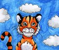 stock image of  Epic Watercolor Tiger