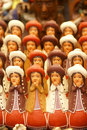 Handmade Indian dolls, Pisac market Stock Photos