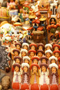Handmade Indian dolls, Pisac market Royalty Free Stock Photo