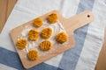 Handmade italian pumpkin gnocchi