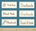 Handmade labels. Royalty Free Stock Photo