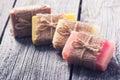Handmade natural soap Royalty Free Stock Photo
