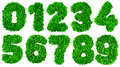 Handmade number set from green scraps of paper Royalty Free Stock Photo