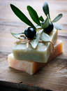Handmade Olive Soap Stock Photo