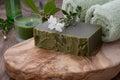 Handmade Organic Soap and Organic Oil Royalty Free Stock Photo