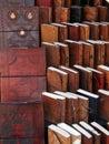 Handmade paper books and journals Stock Photo