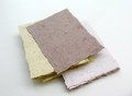 Handmade paper several sheets of cardstock Royalty Free Stock Photography