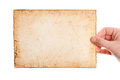 Handmade paper in woman hand Royalty Free Stock Photo
