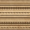 Handmade pattern with ethnic geometric ornament for your design this is file of eps format Royalty Free Stock Photography