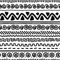 Handmade pattern with ethnic geometric ornament for your design this is file of eps format Stock Image
