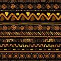 Handmade pattern with ethnic geometric ornament for your design this is file of eps format Stock Photos