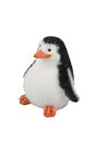 A handmade pinguin toy against white background Royalty Free Stock Photography