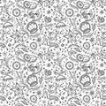 Patrón o mar en negro blanco página