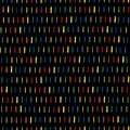 Handmade seamless texture - dashed line in rainbow colors. Perfect as background for greeting cards, business cards, covers, and