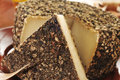 Handmade spice coated cheese from spain closeup of a Royalty Free Stock Image