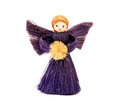 Handmade straw Christmas angel ornament Royalty Free Stock Photo