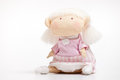 Handmade toy girl Royalty Free Stock Images