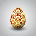 Handmade unity decorated easter egg illustration Stock Photos