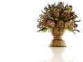 Handmade wood flower vase for decor Royalty Free Stock Photo
