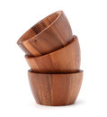Handmade wooden bowl Royalty Free Stock Photo