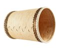 Handmade wooden cylindrical case Royalty Free Stock Images