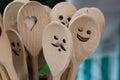 Handmade wooden spoons Royalty Free Stock Photo