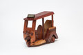 Handmade wooden tuk tuk cheep souvenir from thailand Stock Photography