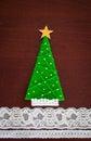 Handmade wool Christmas tree. Royalty Free Stock Photo