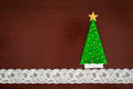 Handmade wool Christmas tree. Royalty Free Stock Photo