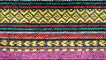 Handmade woven cotton fabrics. Royalty Free Stock Photo