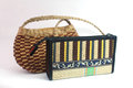 Handmade woven hand bag and purse colorful made for modern women Stock Images