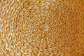 Handmande circular woven basketwork handmade natural background Royalty Free Stock Image