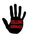 Handprint killing animals