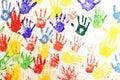 Handprint in multiple color